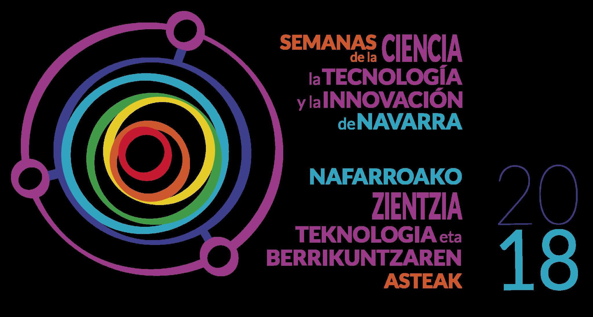Logotipo de las Semanas de la Ciencia de Navarra 2018